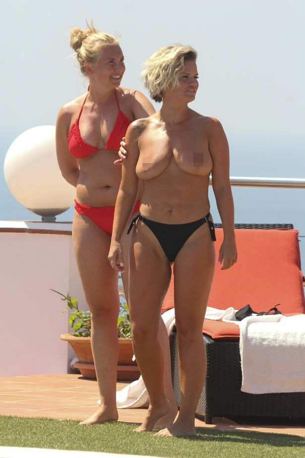 Still Need An Uplift! Former Singer Kerry Katona Sunbathes Topless On Holiday In Marbella 8
