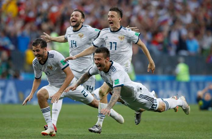 Well Done Boys! Putin Congratulate Russian Team After Historic Victory Over Spain 3