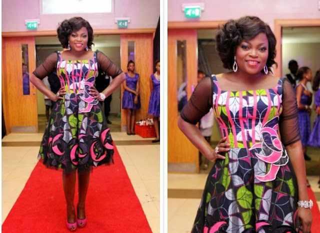 Celebrity Ankara Styles: Funke Akindele's Classy Style In Colourful African Print 1