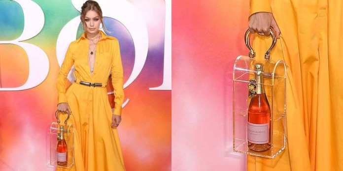 Style Stalking: Gigi Hadid Made An Appearance At The BOF Dinner Carrying Nothing But Rosé In Her Bag 2