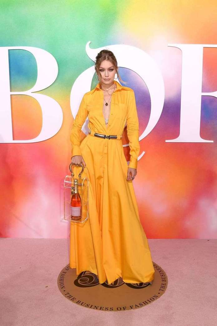 Style Stalking: Gigi Hadid Made An Appearance At The BOF Dinner Carrying Nothing But Rosé In Her Bag 1