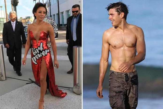 Night of Passion! Mel B, 43, Hooked Up With Zac Efron, 30 2
