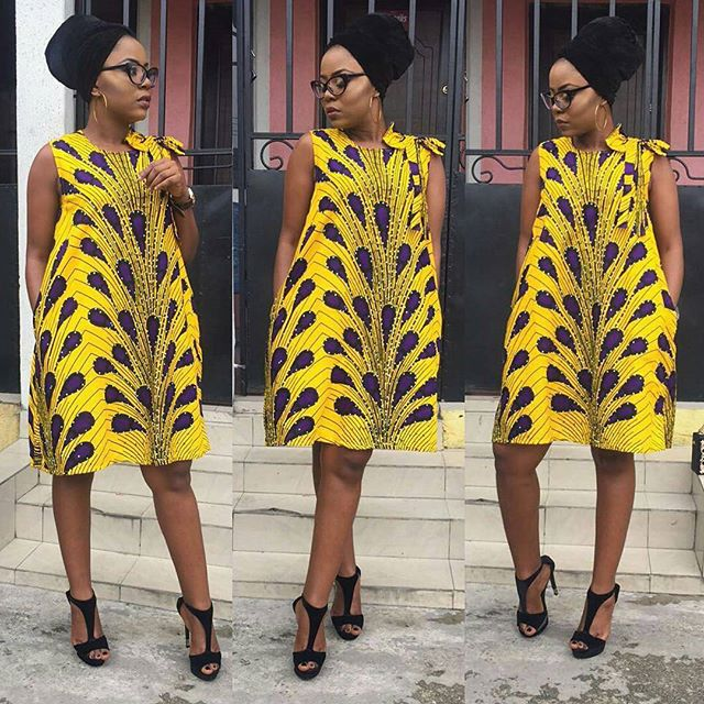 Ankara Style: Slay Your Week With Beautiful Short Gown Designs 4