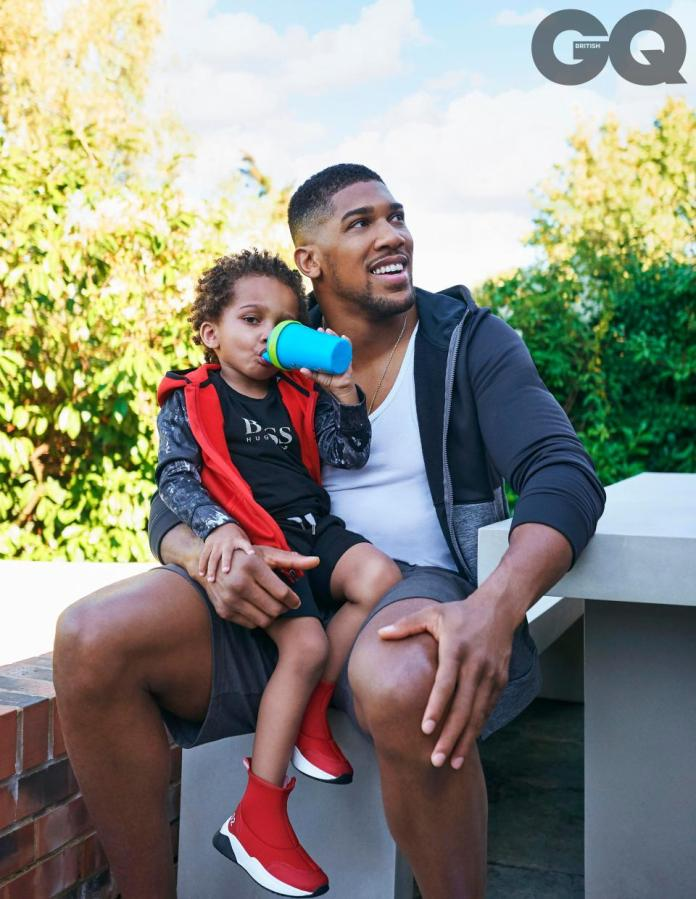 Anthony Joshua And His Cute Son, JJ, Graces British GQ December Issue 2