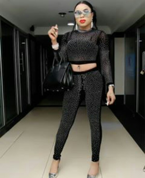 Bobrisky Looks Stunning In A Black Two-Piece Outfit 3
