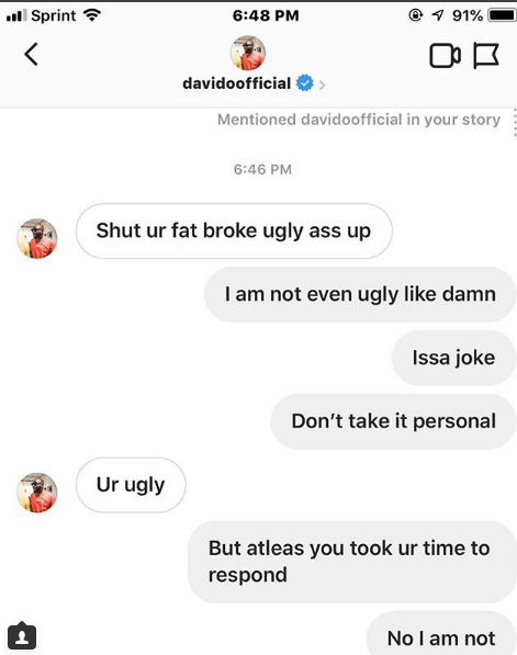 Davido Accused Of Bullying A 17-year-old Girl 2