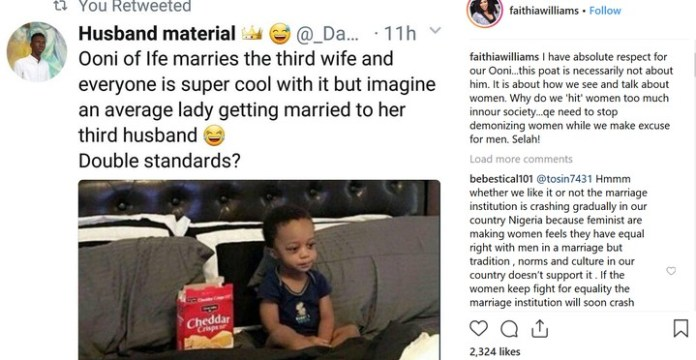 Faithia Balogun: Don't Insult Women While Making Excuses For Men Like Ooni 1