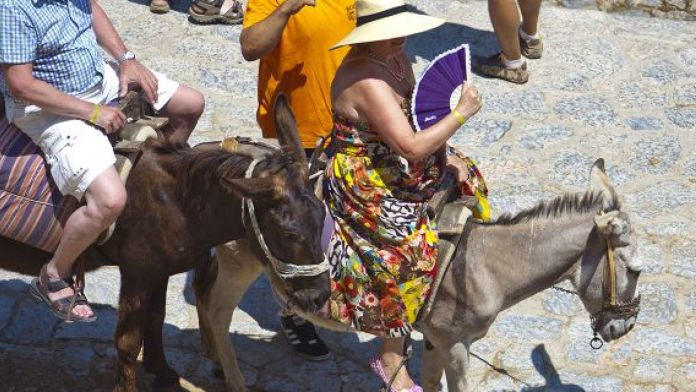 Greece Bans Obese Tourists From Riding On Donkeys 1