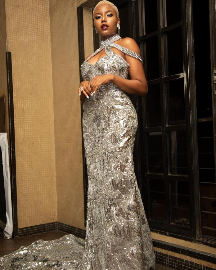 Celebrity Beauty Of The Day: Nancy Isime Oozes Perfection In Lovely Shimmery Gown 2