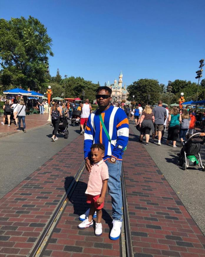 Family Trip! Olamide And Son Are Having The Time Of Their Life In Disneyland 2