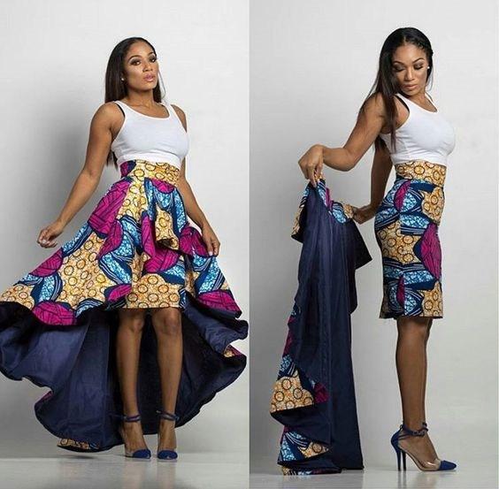 Ankara Style: Be Pretty In Colourful Stylish Peplum Designs 1