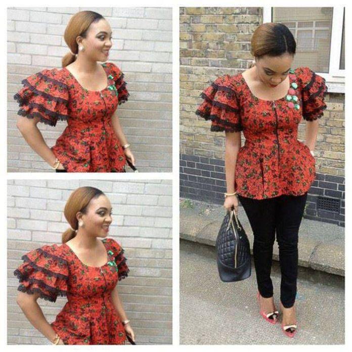 Ankara Style: Be Pretty In Colourful Stylish Peplum Designs 5
