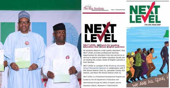 Next Level? President Buhari 'Stole' Campaign Logo From Rex Institute - Nigerians Alleges Online 3