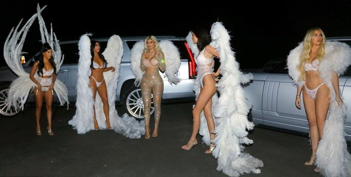 Kardashians/Jenner Sister Show Off Their Incredible Figures In Barely There Halloween Costumes 5