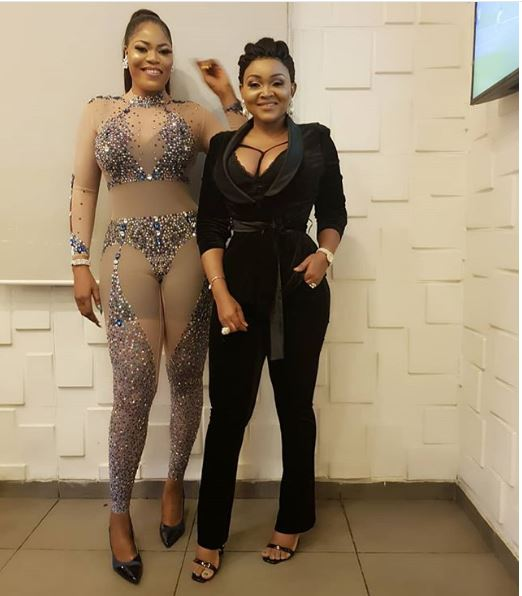 Style Stalking: Mercy Aigbe Is A Stunner In Daring Cleavage-Baring Suit And Bralet 4