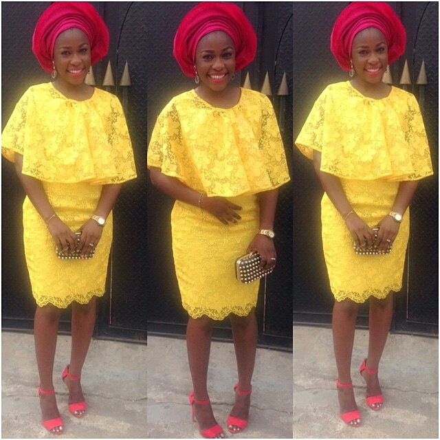 Aso Ebi Style: Step Out In Yellow And Embrace Your Sunny Bright Beauty 5