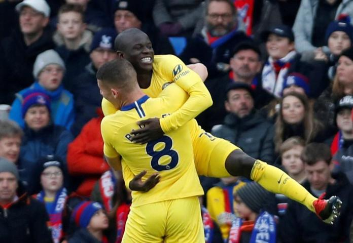 Crystal Palace 0 Chelsea 1: N'Golo Kante Scores To Help Sarri's Boys Sink The Eagles 2