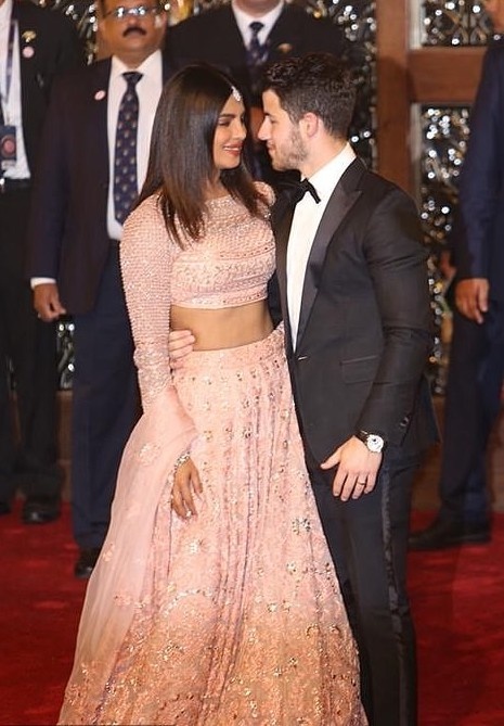 Priyanka Chopra Stuns In Stuning Lehenga As She And Husband Nick Jonas Attend Lavish $100m Wedding In India 7