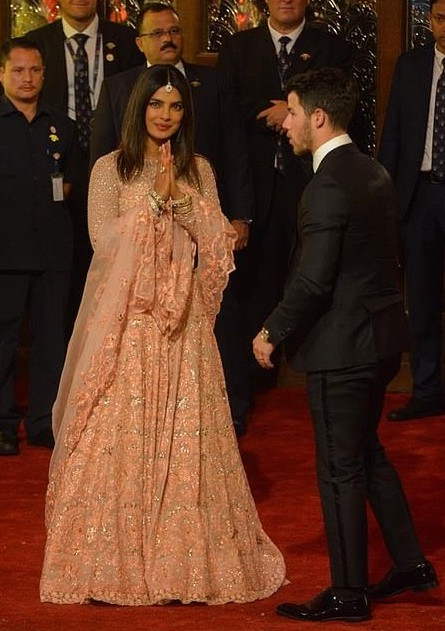 Priyanka Chopra Stuns In Stuning Lehenga As She And Husband Nick Jonas Attend Lavish $100m Wedding In India 3