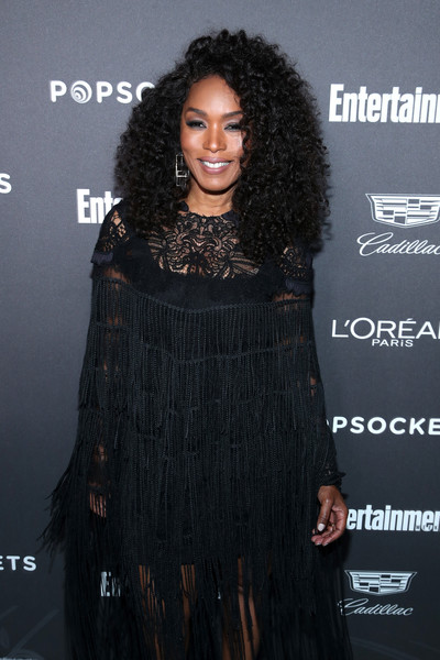 Daily Beauty Look: Angela Bassett Oozes Black Beauty With Voluminous Long Curls At Entertainment Weekly Party 4