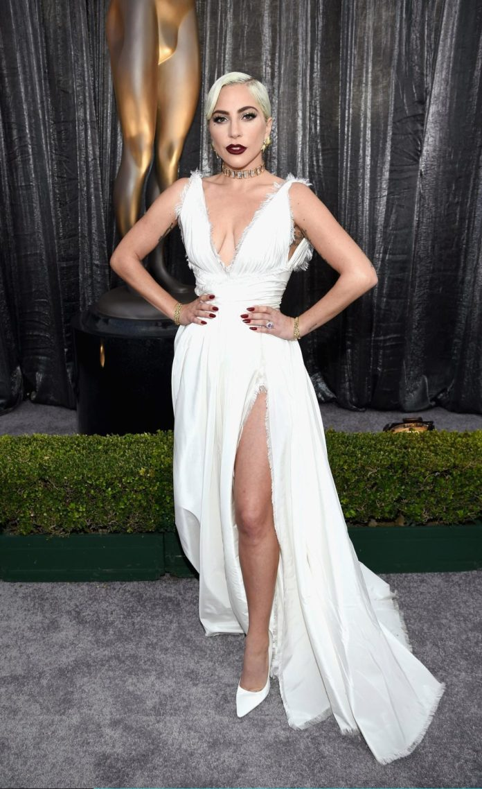 Who What Wear: Lady Gaga Is Breathtaking In White Dior Haute Couture Gown At SAG Awards 3