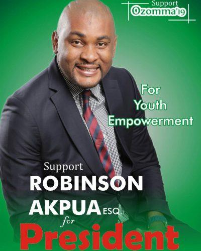 2019 Presidential Election: Meet Presidential Aspirant, Robinson Akpua 1