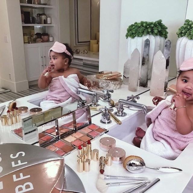 KOKO Junior: True Thompson Plays With Mum Khloe Kardashian's Makeup In Adorable Photos 3