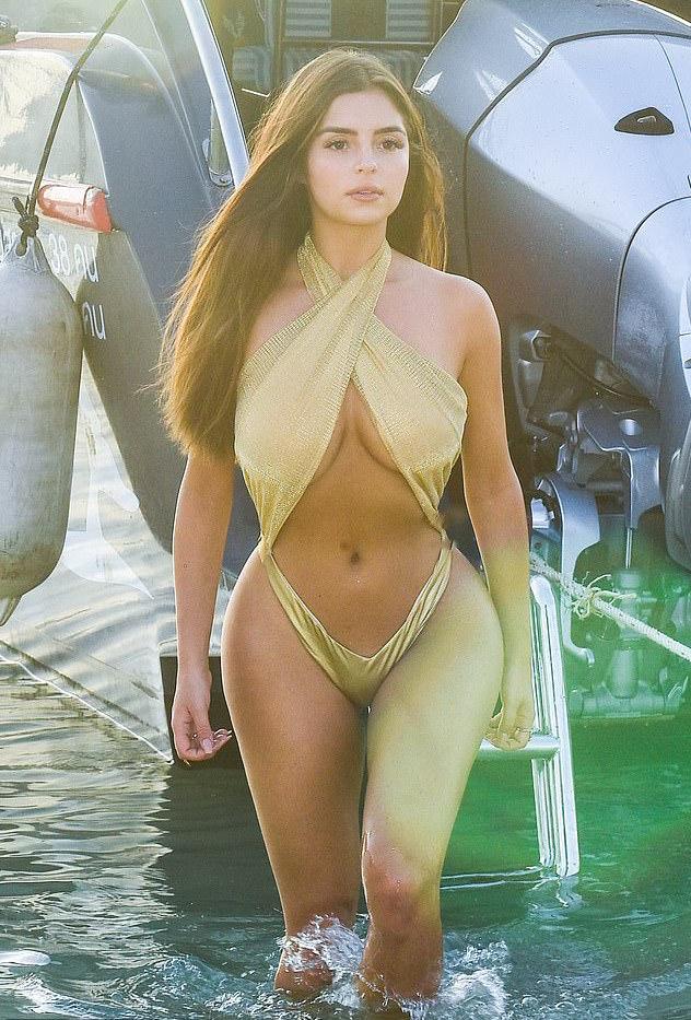 Sun Sea Swimwear: Demi Rose Set Pulse Racing As She Puts Her Curves On Parade 5
