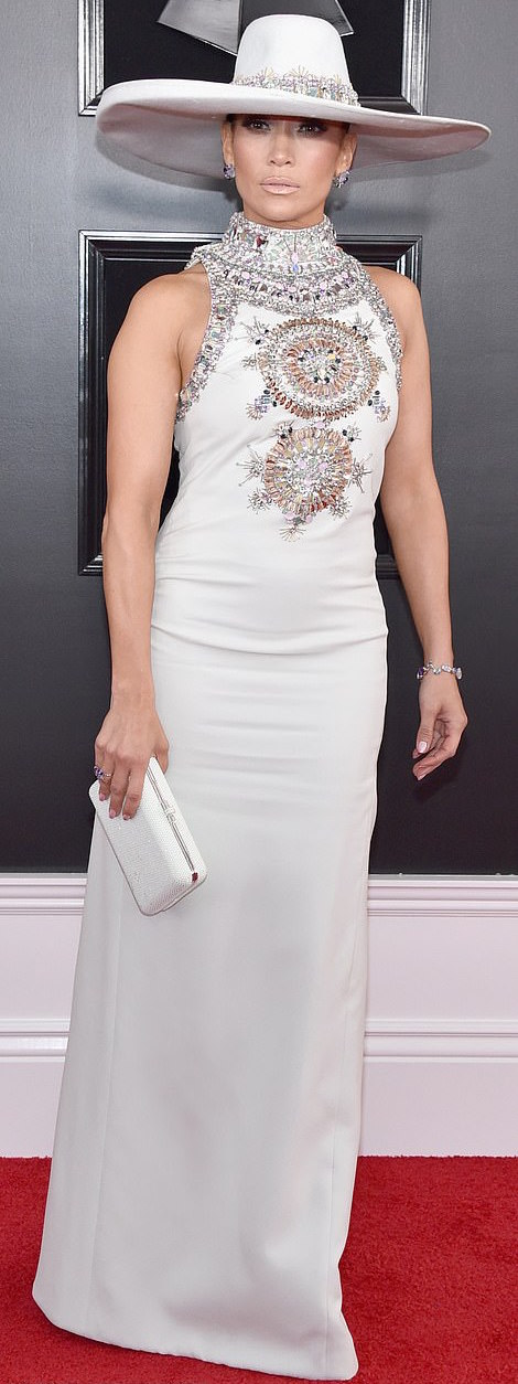 Jennifer Lopez Dazzles In Ralph & Russo Embellished Gown For The 2019 Grammys 3