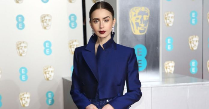 Style Stalking: Lily Collins Turn Heads In Daring Givenchy Haute Couture At BAFTAs 2019 2