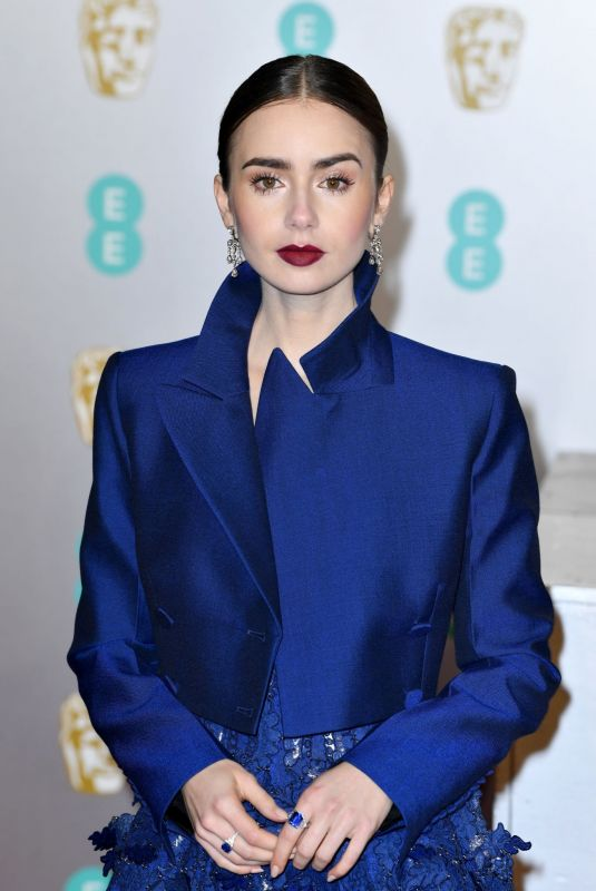 Style Stalking: Lily Collins Turn Heads In Daring Givenchy Haute Couture At BAFTAs 2019 4
