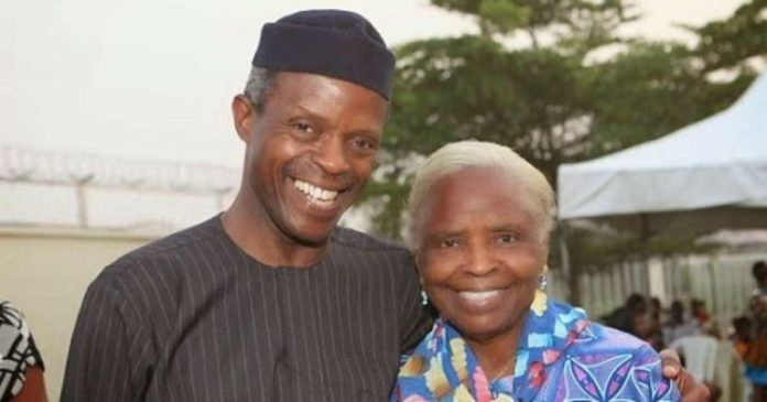 What Buhari And Osinbajo Did In Three Years, People Couldn't Do It For 16 Years - Osinbajo's Mother 1