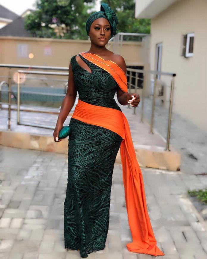 Aso-Ebi Styles: 5 Nigerian Female Celebrities Who Slayed With Their Outfit At Richard Nnaji's Wedding 3