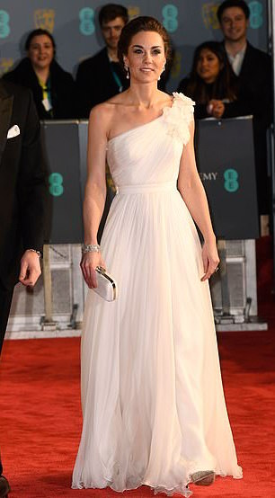 Style Staking: Kate Middleton Stuns In Alexander McQueen Gown For Bafta Awards 1