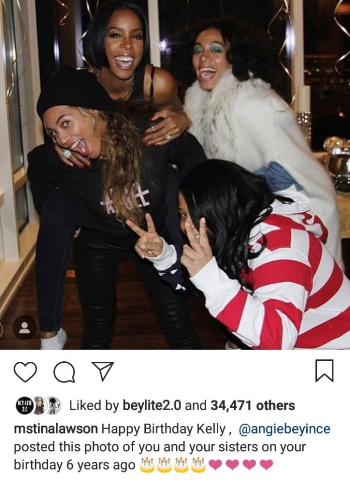 I Love You Deeply Kelly - Beyonce Shares Throwback Photos Of Herself And Kelly As She Wishes The Singer A Happy Birthday 5
