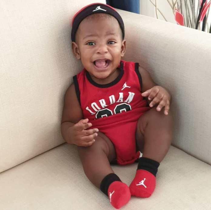 KOKO Junior: Jayce Jeremi Is Absolutely Cute In Red Baby Jordan Ensemble 2