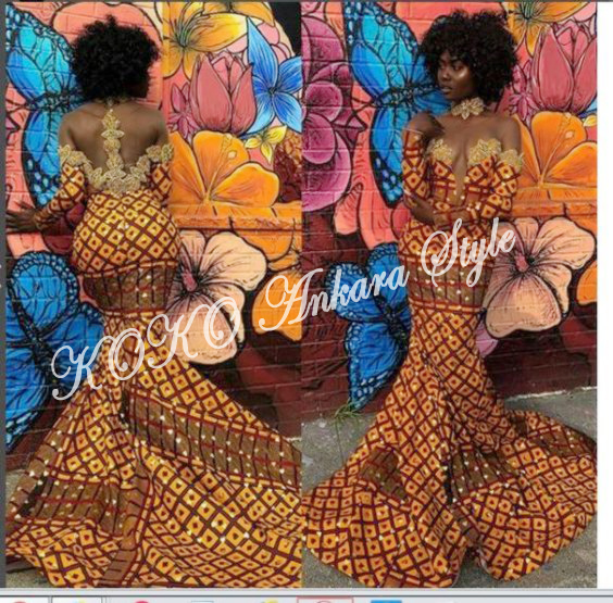 Ankara Style: Fabulous Is The Word For These Five Mermaid Ankara Gown Styles 1