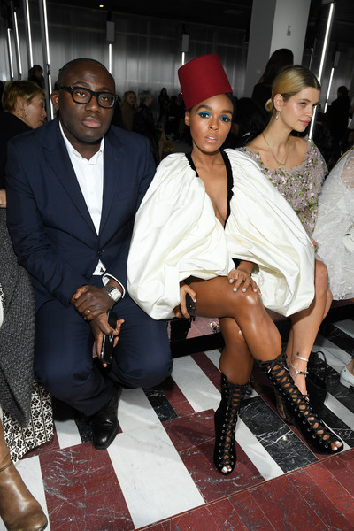 Who What Wear: Janelle Monae Reigns Supreme In Giambattista Valli Red Fez 1