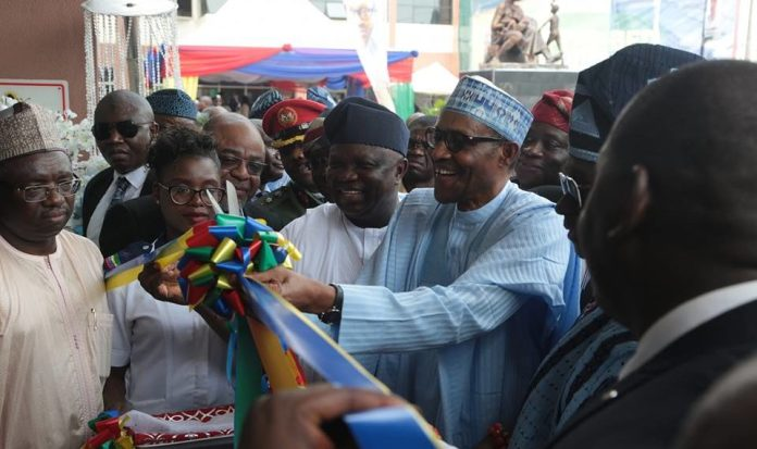 Buhari Unveils Ayinke Maternal And Child Health Care, Commissions 400 Seaters Theatre 1