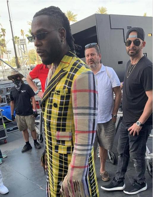 Style Stalking: Burna Boy Makes Eccentric Fashion Statement As He Storms Coachella In A Kenneth Ize Ensemble 3