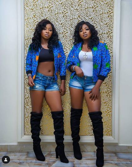 The Aneke Sisters Are Gorgeous And Twinning In Denim And Anakara Print 1