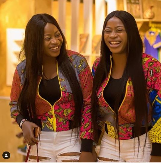 The Aneke Sisters Are Gorgeous And Twinning In Denim And Anakara Print 2
