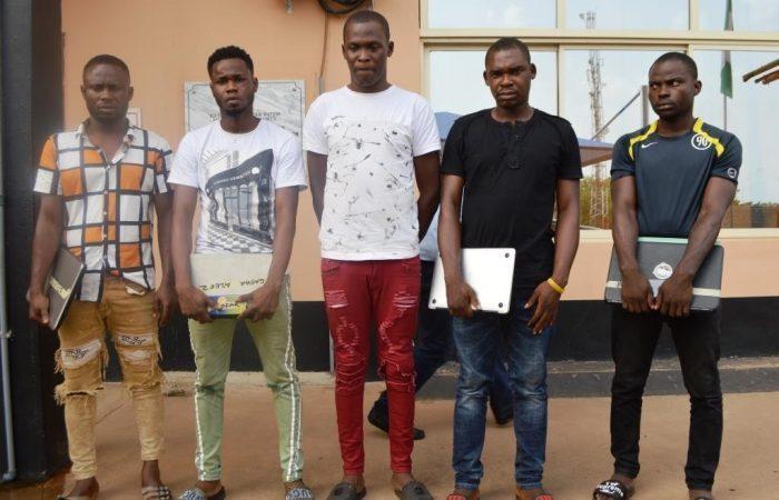 Image result for EFCC nabs 32 suspected internet fraudsters in Ibadan
