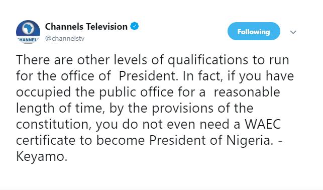 You Do Not Need A WAEC Certificate To Become The President Of Nigeria- Festus Keyamo 1