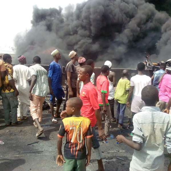 10 Burnt Beyond Recognition And Scores Injured As Petrol Tanker Collides With Truck In Gombe 2