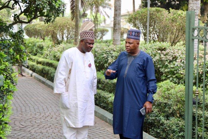 #SenatePresidency: Amosun, Shettima Holds Meeting Over Senate Presidency 4
