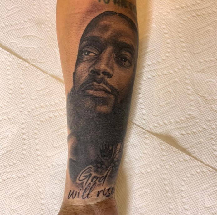 'Real Love Never Dies, When You See Me, You Will Always See Him' - Lauren London Tattoos Nipsey On Her Arm 2