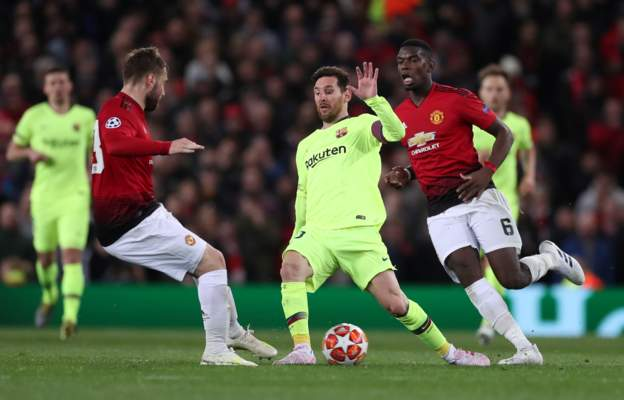 Manchester United 0 Barcelona 1: Shaw Own Goal Gives Messi's Team Advantage 4