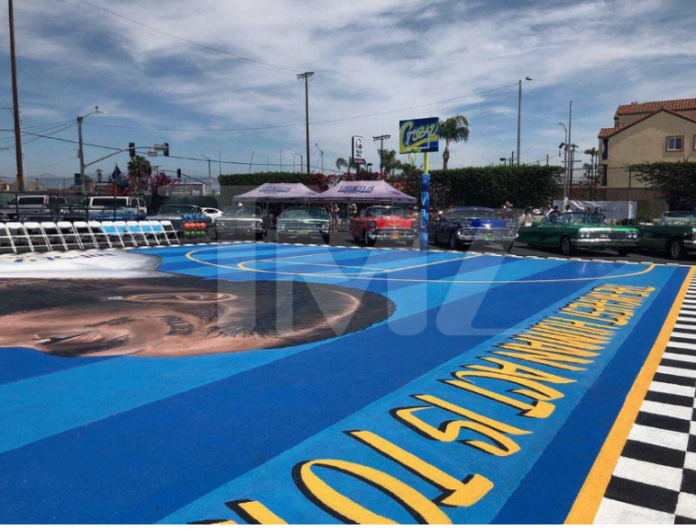Memorial: Crenshaw District Basketball Court Named After Nipsey Hussle 1