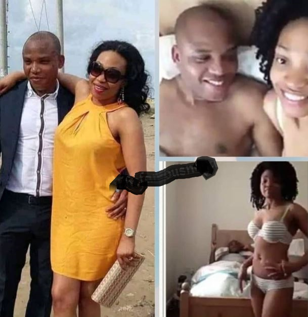 Leaked Video Of IPOB Leader Nnamdi Kanu In Bed With His Wife Surfaces...See His Reaction 2